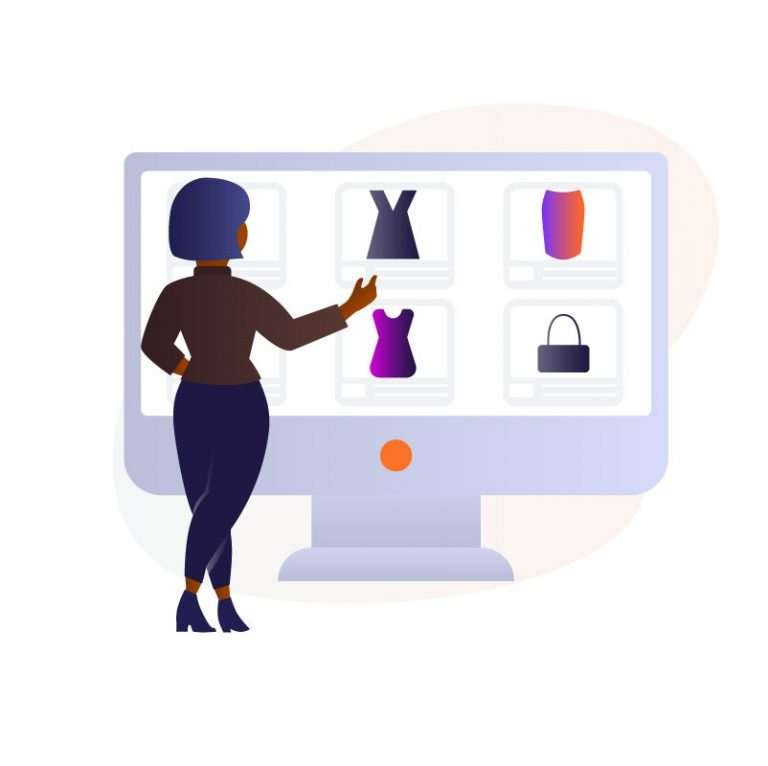 Launch Black-Woman-Buying-Online-stuff